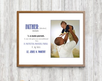 Father's Day Father Definition Framable Printed Quote