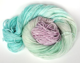 Hand dyed sock yarn- MERMAID