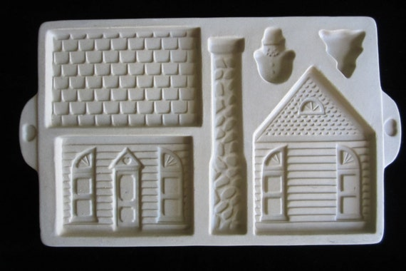 Gingerbread House Cookie Mold Shortbread Pan By