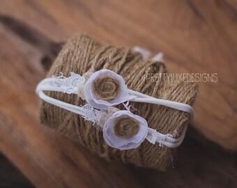 Cream & Lace Knit headband