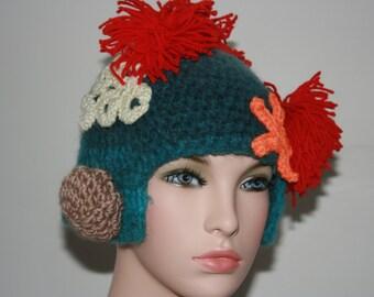 No: 2 Freeform crochet hat, wearable art, OOAK