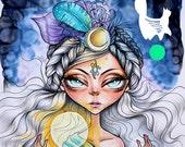Digital Stamp- 'Lucy Loo' Luna spell  - 300dpi JPEG/ PNG - MAC0069