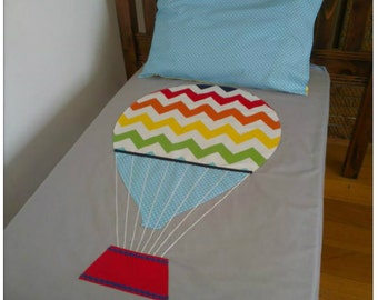 hot air balloon - nursery cot quilt cover set