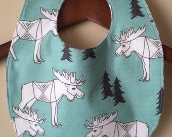 Bib ~ Geometric//Tribal//Triangle//Aqua//Nature//Natural//Moose//Woodland//Native