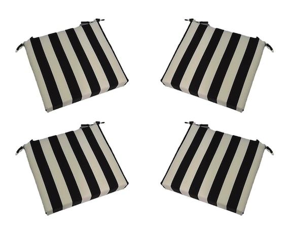 Set of 4 In Outdoor Universal Foam Seat Cushions w ties