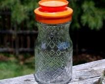 Popular items for vintage glass carafe on etsy - Plastic sangria glasses ...