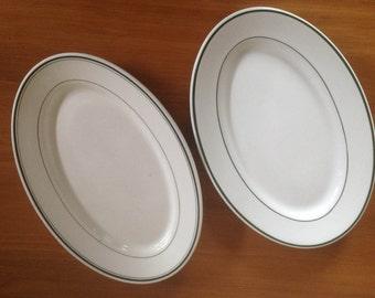Sterling & Shenango Restaurant Platters - Set of 2