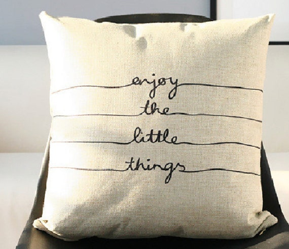 Throw Pillows With Sayings On Them : Decorative Cotton Linen Throw Cushion Case Printed by puresupply