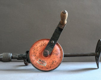 french vintage hand drill