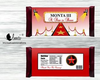 Red Carpet Candy Bar Wrapper - Digital File
