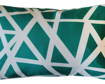 Bird's Nest Teal Throw Pillow 12X20
