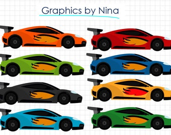 Off Race Cars Clip Art For Personal And Commercial Use