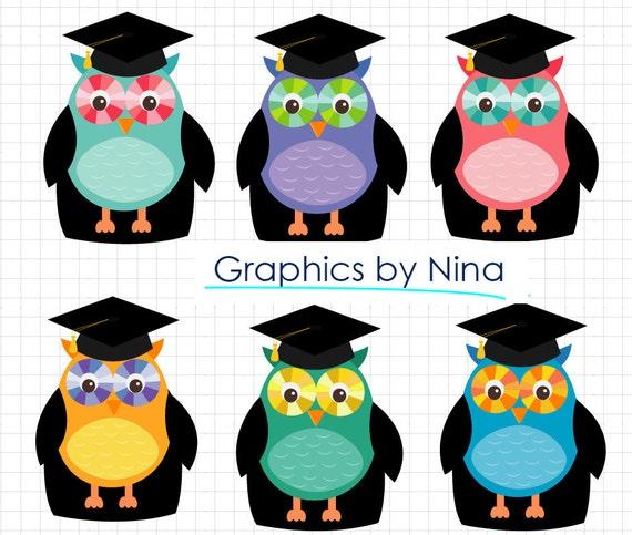 INSTANT DOWLOAD Owl Kindergarten Graduation Clipart clip ...