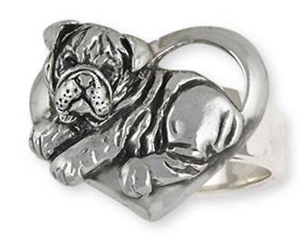 Sterling Silver Bulldog Ring Jewelry  BD40-R