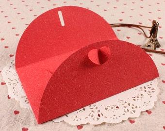 RED - Plain kraft envelope in set of 10