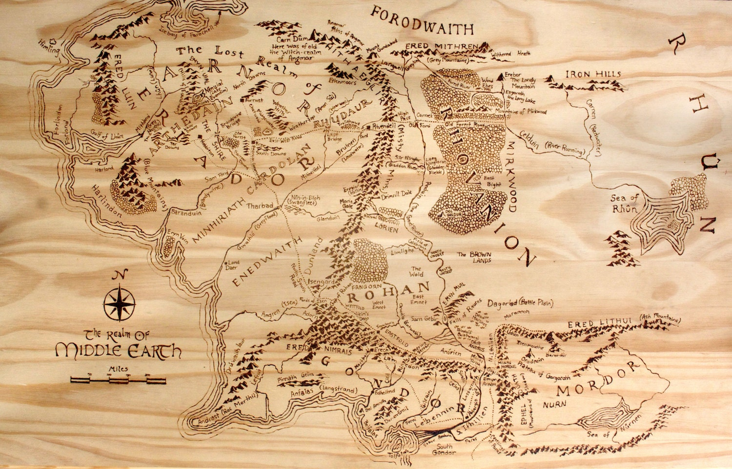 Map of middle earth – The Map of Middle Earth