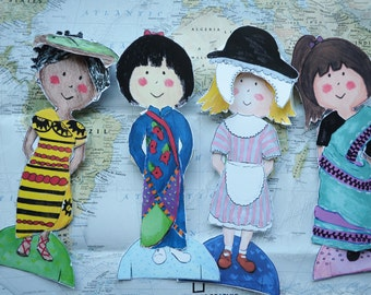 Girls of the World Paper Dolls