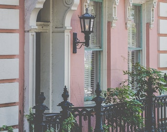 Southern charm pink architecture digital image