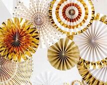 Wedding Paper Fans / Party Pinwheels  / Backdrop / Rosette / Wall Hanging Decor