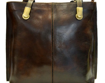 Ladies handbag dark brown leather bag clutch violet backpack crossbody women bag black yellow red  petrol blue brown made in Italy