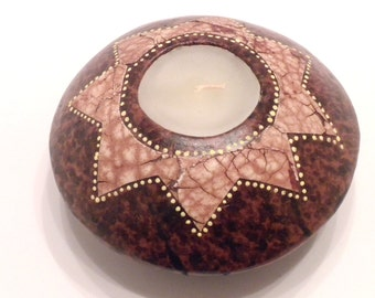 Brown Star Ball Candle Holder