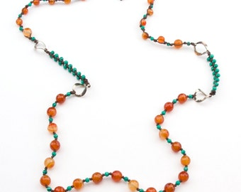 Bohemian Summer Hand Knotted Necklace