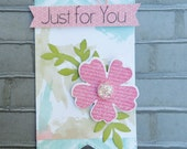 Just For You Banner Tag, Gift Tag, Banner Tag, Flower Tag, Summer Tag