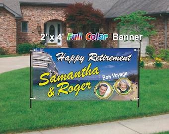 Cruise Ship Bon Voyage Retirement Banner