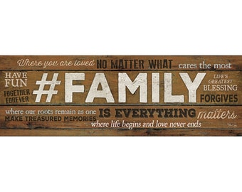MA2003 - #FAMILY is Everything - 36 x 12