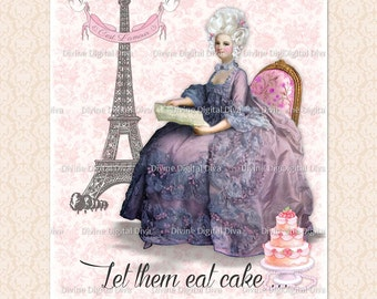 Marie Antoinette Let Them Eat Cake French Parisian Digital Image Instant Download