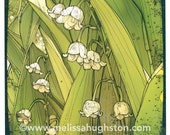 Lily of the valley flower artwork - Item #808
