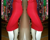 Red stretch knit pencil skirt (other colors available)