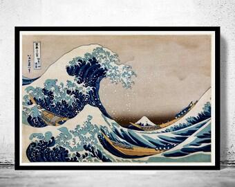 Japanese Art, Hokusai Under the great wave off Kanagawa, 1832