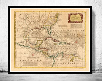 Gulf of mexico map  Etsy
