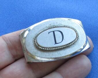 Vintage Swank Metal Buckle Initial D
