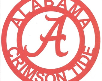Alabama Crimson Tide Sign Metal