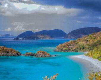 Trunk Bay #2 - Trunk Bay - St. John - USVI - U.S. Virgin Islands - Resort - Caribbean - HDR - Seascapes - Coastlines - Beach