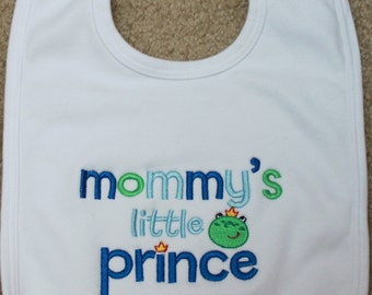Personalized Embroidered Baby Bib - Mommy's Little Prince