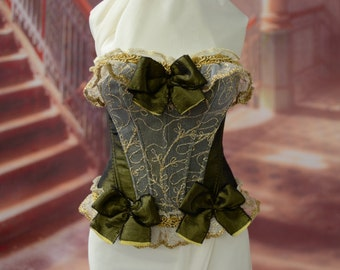 Corset for bjd doll - Soom SG. Bjd clothes, bjd dress, doll clothes, bjd corset, doll dress.