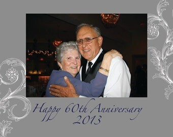 Anniversary magnet simple gray
