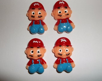 4pc. Baby Super Mario Brothers Cabochons