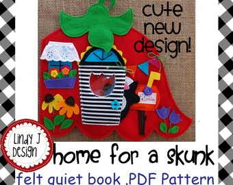 Home for a Skunk QUIET BOOK .PDF Pattern