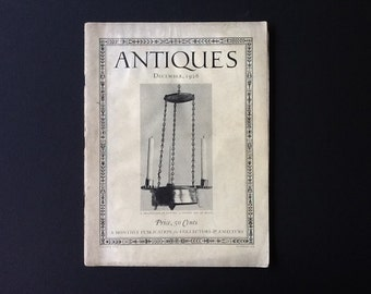 Antiques Magazine December 1926 Antique Lamps Furniture Potlids Victorian  Carcdcases