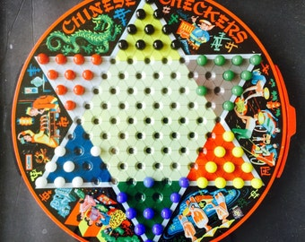 Framed Vintage 1950's Chinese Checkers Pixie Game by Steven