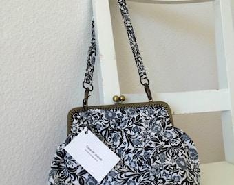Handmade vintage floral fabric handbag