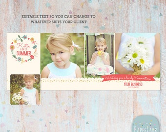 Facebook timeline Summer photoshop template -  HH001 - INSTANT DOWNLOAD
