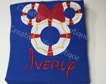 Disney Cruise - MInnie Life Preserver - Personalized - Youth