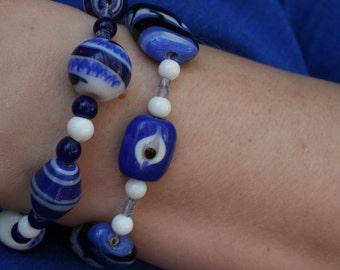 Evil Eye  Stacked Bracelet