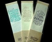 Literary Letterpressed Calligraphic Bookmarks