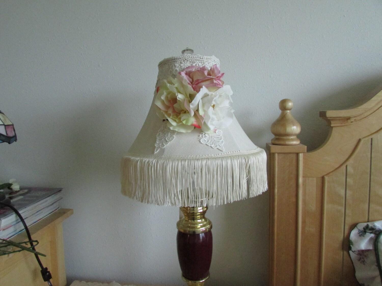 White Lamp Shade Shabby Chic Rose Lamp Shade Lamp Shade